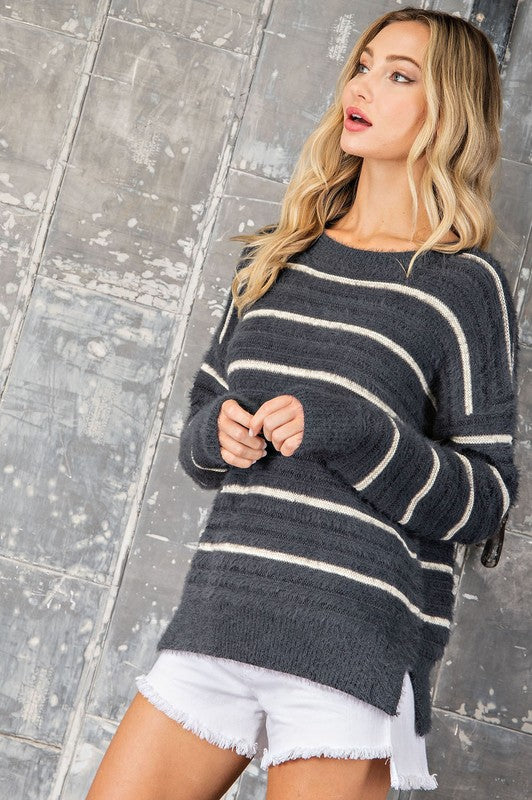 Charcoal Stripe Sweater