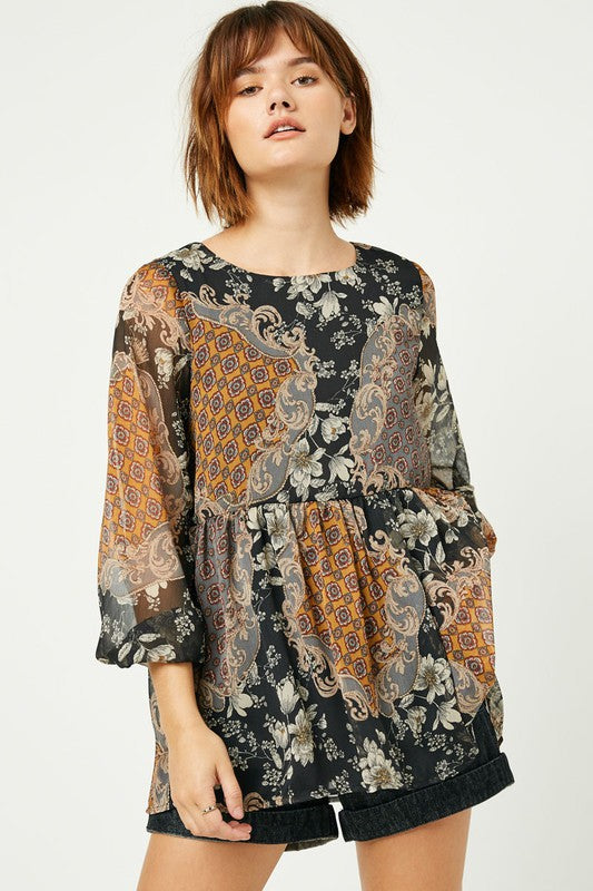 Mixed Patchwork Blouse
