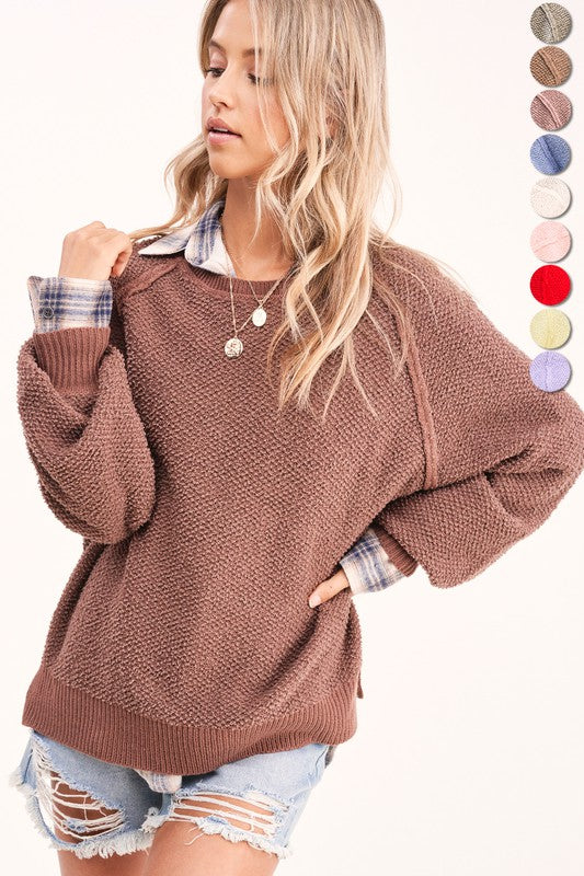Cocoa Texture Sweater