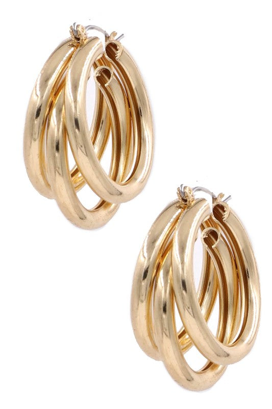 Gold Layer Hoops