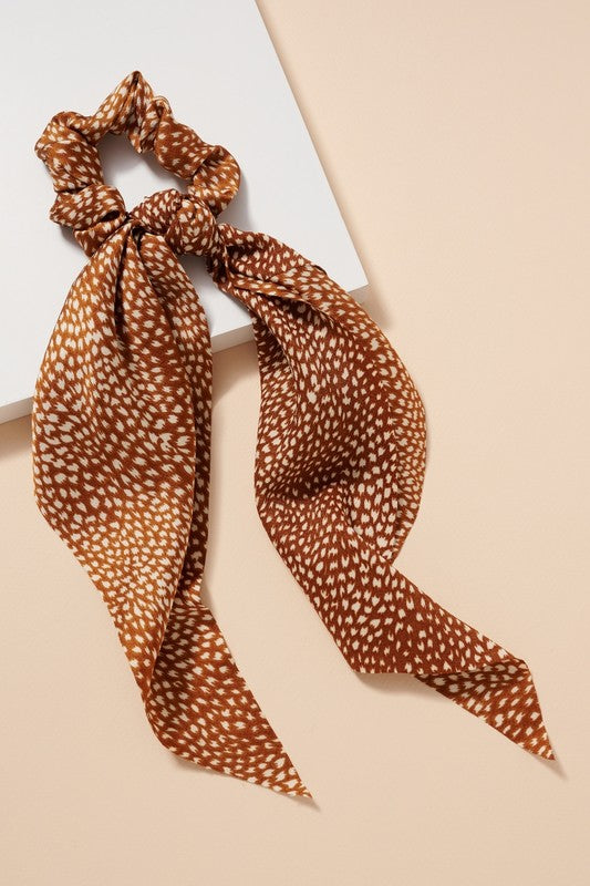Abstract Rust Hair Scarf