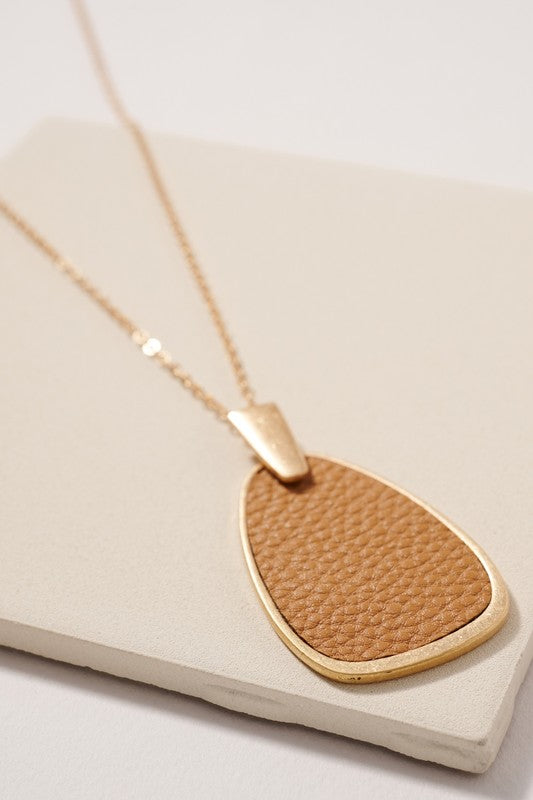 Cognac Leather Pendant
