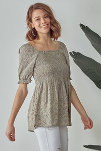 Dusty Mint Smock Top