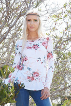 Ivory Floral Long Sleeve Top - T464