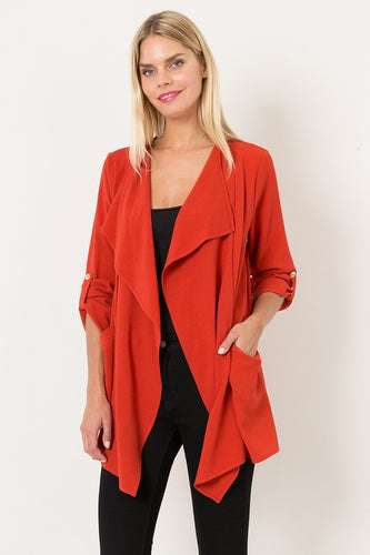 Soft Cardigan Jacket with Front Pockets - T64