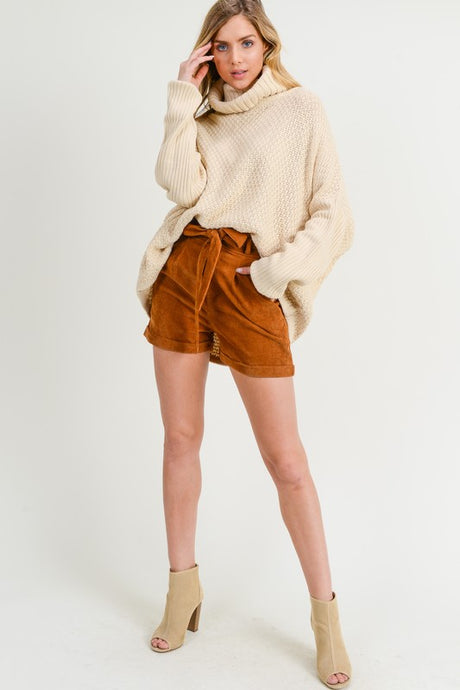 Beige Chunky Knit Pullover - T480