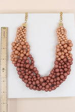 Ombre Beaded Necklace - (Mauve)