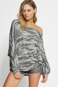 French Terry Camo Top - T314