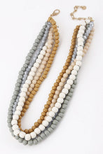 Ivory Twisted Bead Necklace - B58