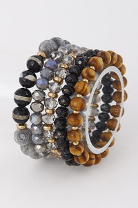 Gold/Black Bracelet Stack - B57