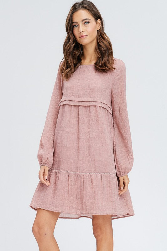 Penny Dress - T354 (Mauve)