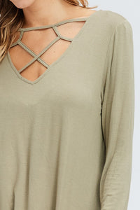 Caged Detail Top - T287