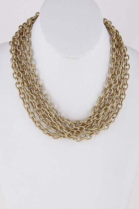 Gold Multi-Layer Necklace
