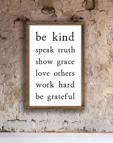 Be Kind Sign - 8x12 - T1006