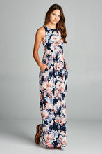 Meghan Floral Maxi Dress - Navy - T121