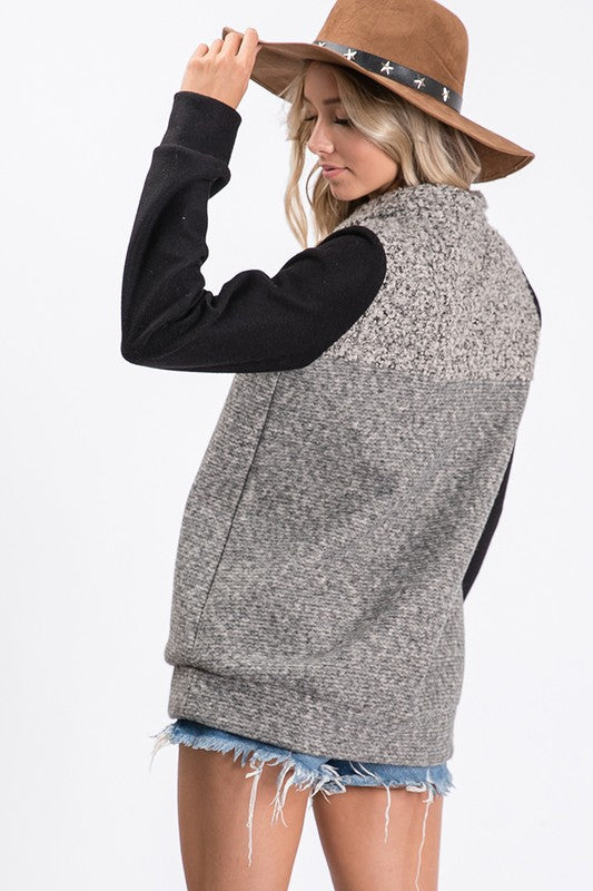 Two Tone Pullover- T1050