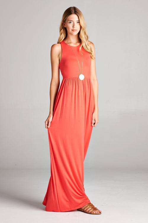 Harper Dress (Coral)