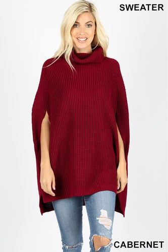 Cabernet Poncho Sweater - T188
