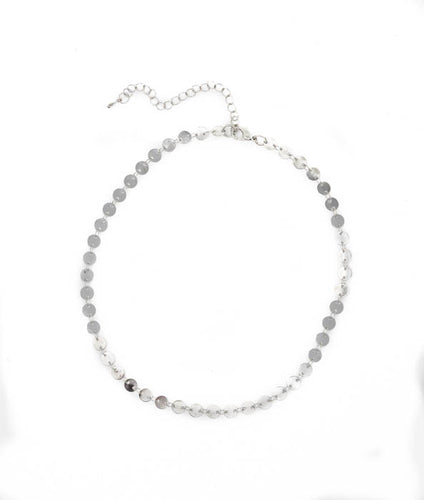 Luminous Choker Necklace - B64 (Silver)