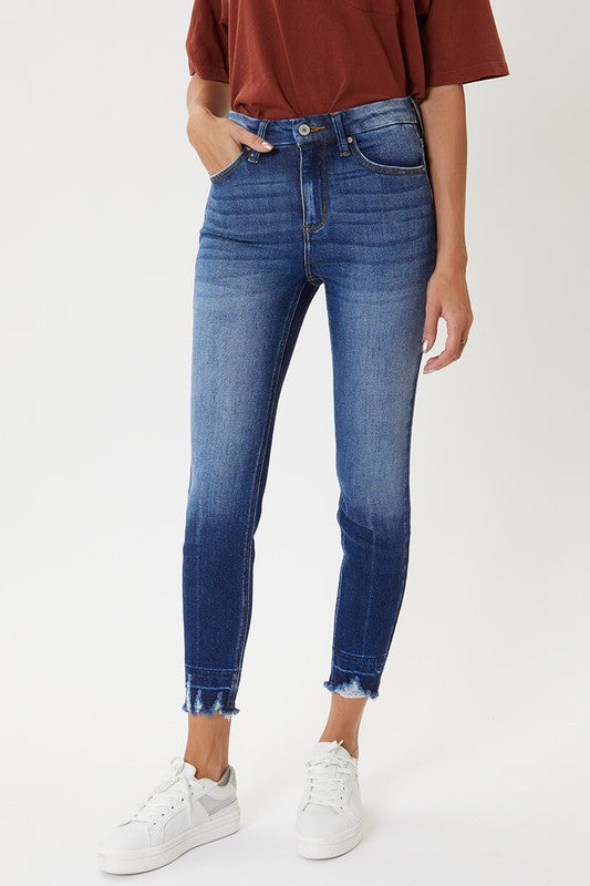 KC High Waist Frayed Denim - KC9245D