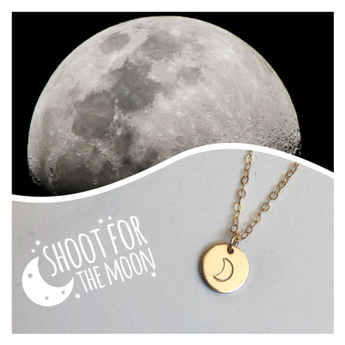 RGD Moon Charm Necklace