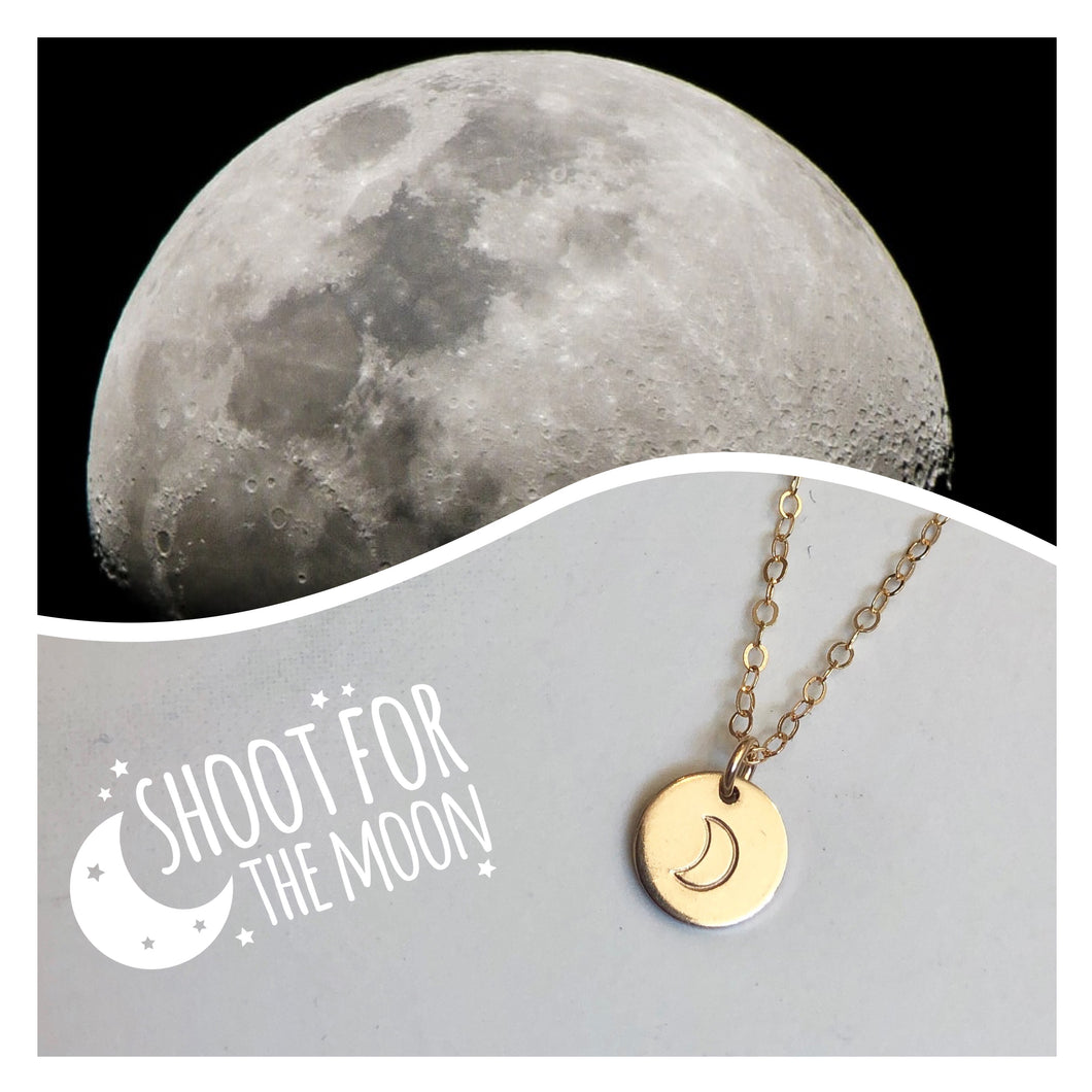 RGD Moon Charm Necklace - B106