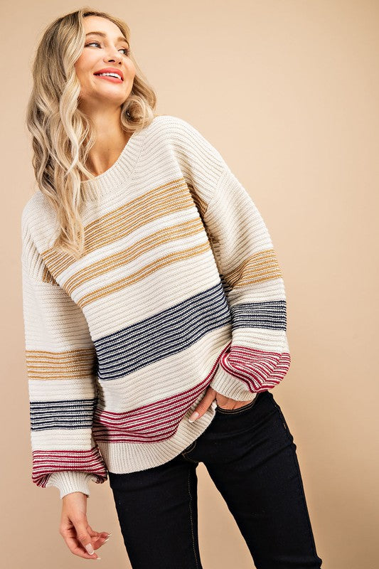 Stripe Cream Sweater