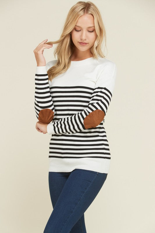 Ivory Striped Sweater