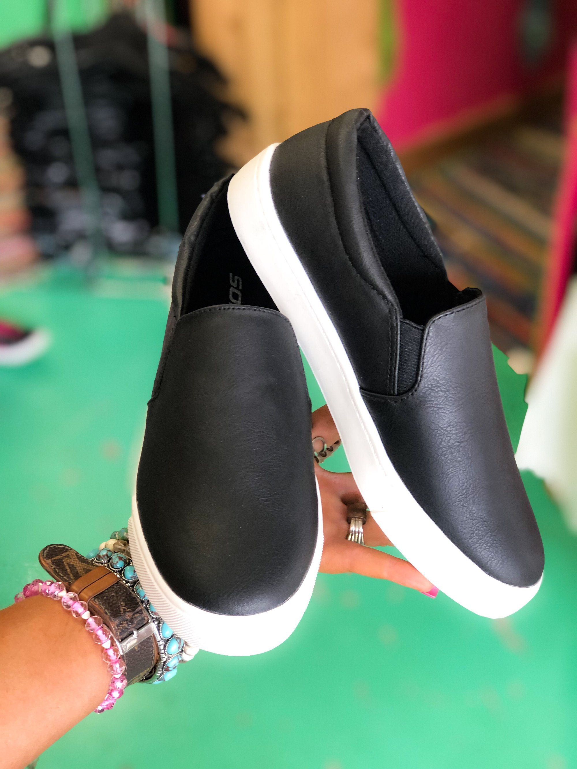 Black Slip on Sneaker