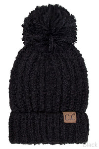 C.C Ribbed Beanie (Black)