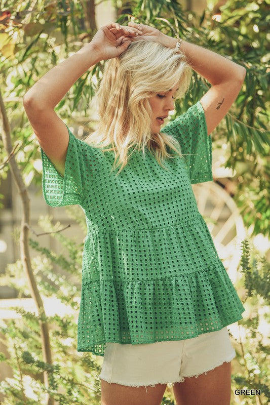 Green Tiered Top