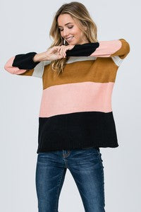 Color Block Sweater - T265