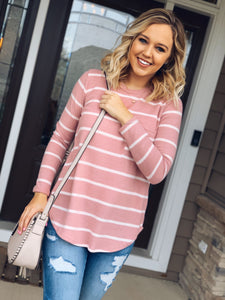 Mauve Stripe Long Sleeve