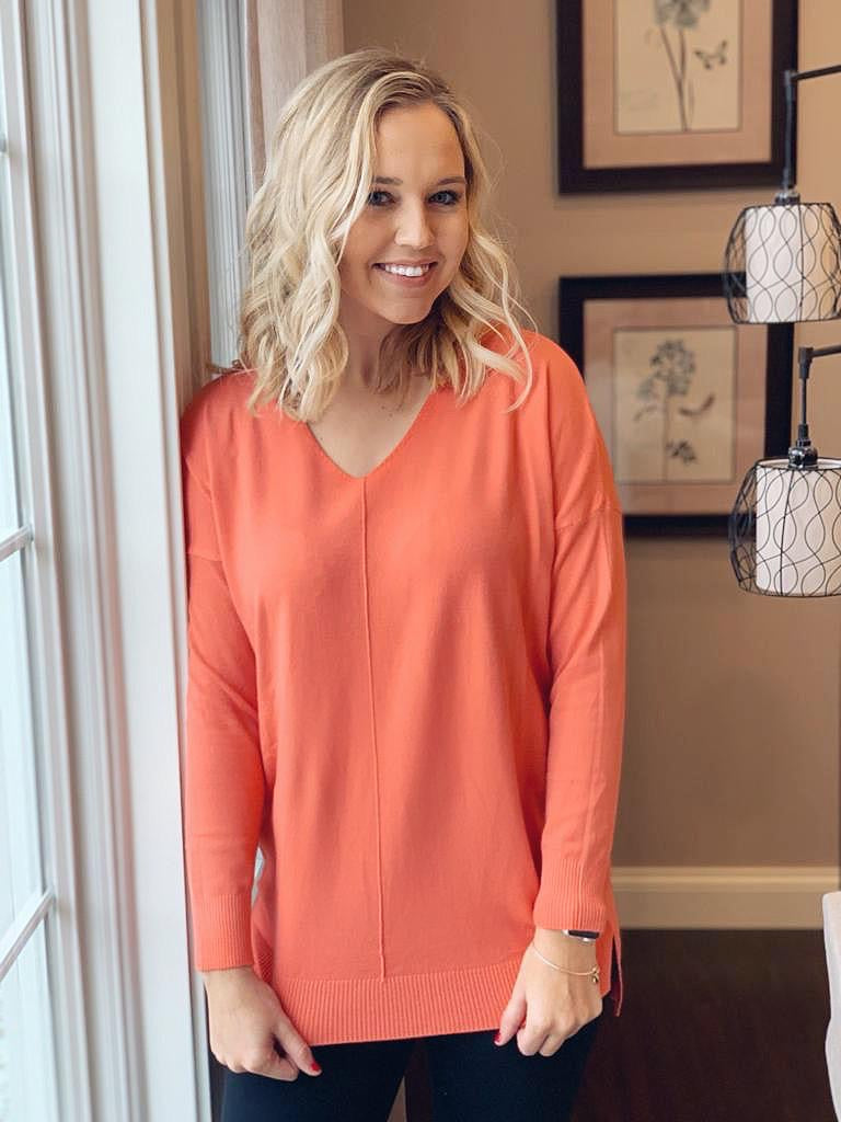 Orange Sweater- T1089