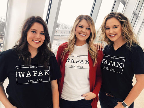 Wapak Hometown White round neck tee