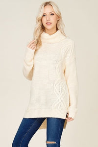 Cream Turtleneck - T174