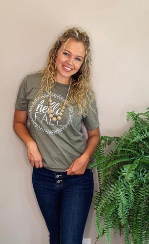 Hello Fall Olive Tee- T793