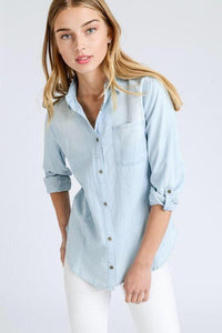 Chambray Button Up- T374