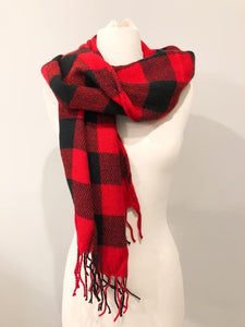 Buffalo Red Scarf - T221