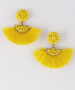 Baby Love Tassel Earrings - Yellow