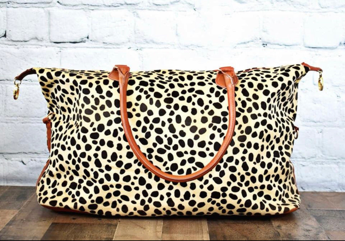 Animal Print Weekender Bag