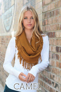 Camel Infinity Scarf - T127