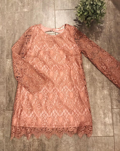 Rose Lace Dress- T323