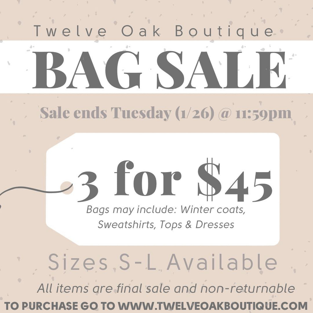 BAG SALE - 3 for $45