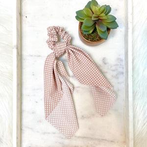 Blush Dot Hair Scarf