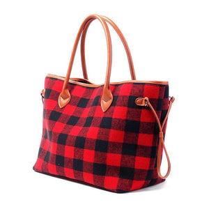Buffalo Plaid Tote - T256