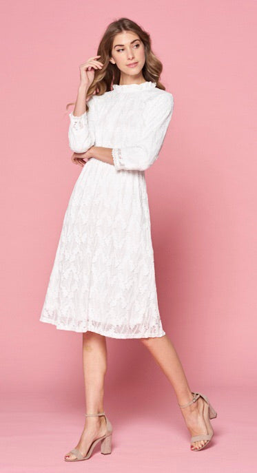 White Lace Dress - T340
