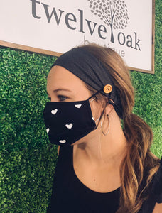 Button Mask Headband (Charcoal)