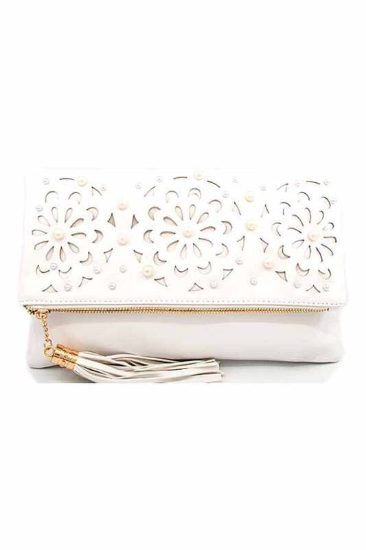 Floral Cut Out Clutch