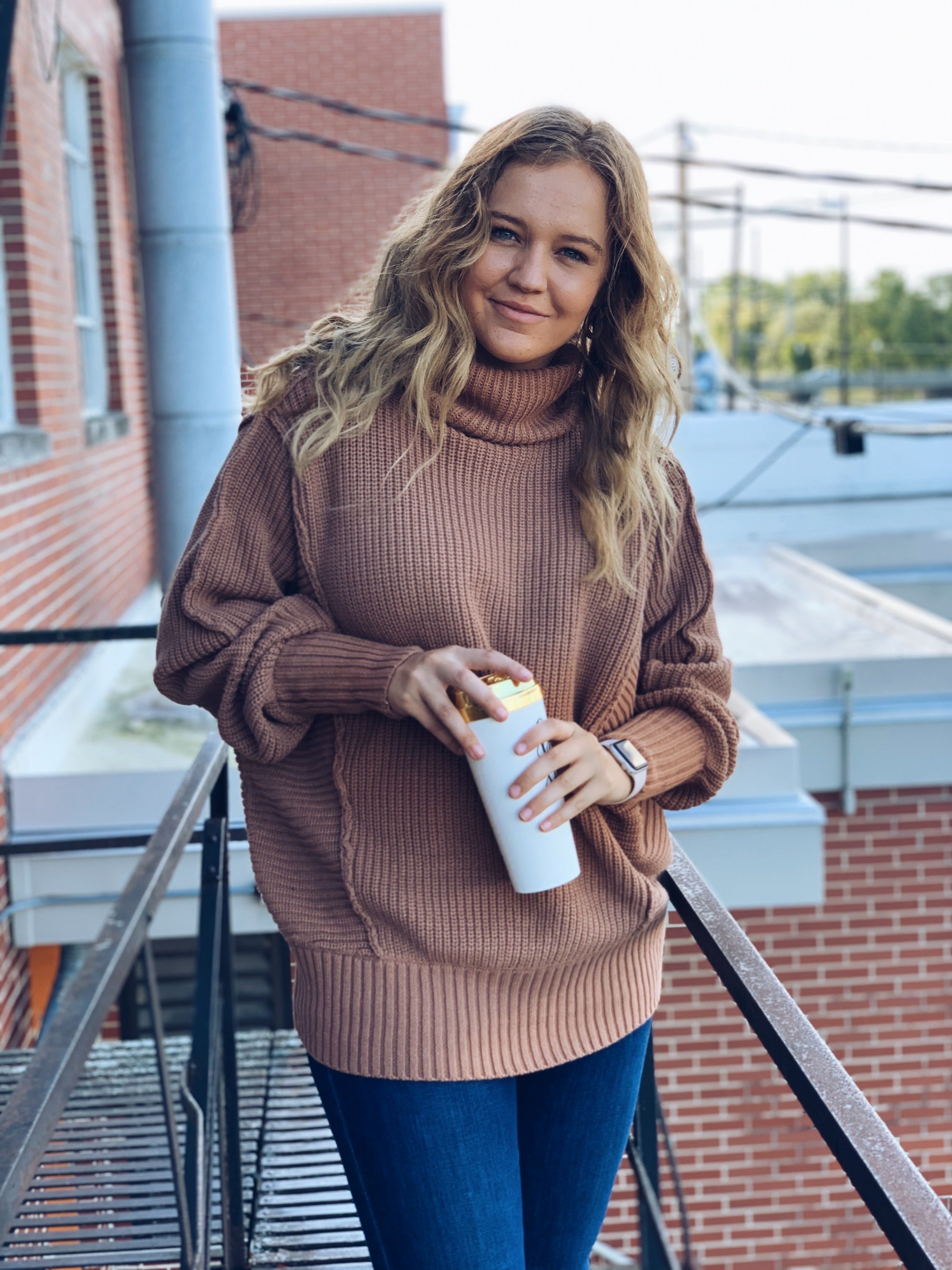 Mocha Oversize Turtleneck